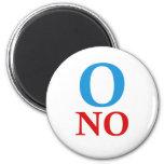 O ningunas camisetas de Obama Imán Para Frigorifico