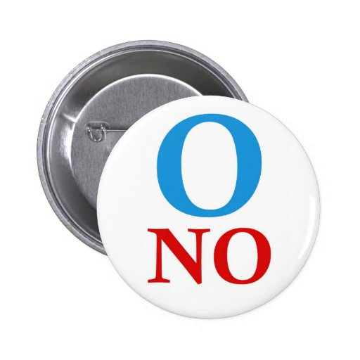 O ningunas camisetas de Obama Pin Redondo 5 Cm