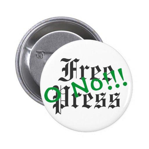 O No! - Detroit Free Press 2 Inch Round Button