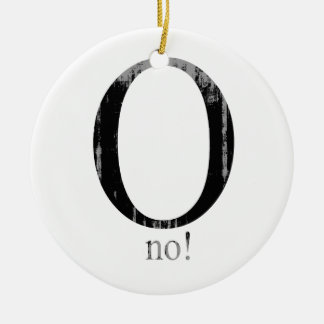 O no Faded.png Double-Sided Ceramic Round Christmas Ornament
