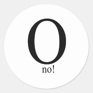 O no round sticker