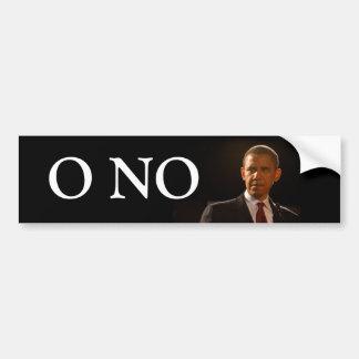 O No we put in Barack Obama Car Bumper Sticker