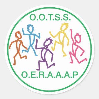 O.O.T.S.S.E.R.A.A.A.P CLASSIC ROUND STICKER