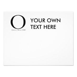 O Obama for President T-shirt Custom Invitation