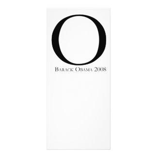 O: Obama for President T-shirt Custom Rack Cards