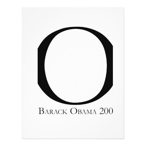 O: Obama para presidente T-shirt Tarjeta Publicitaria