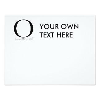 """O: Obama para presidente T-shirt Invitación 4.25"""" X 5.5"""""""