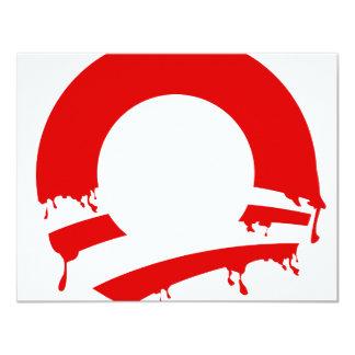 """O (Obama V) Invitación 4.25"""" X 5.5"""""""