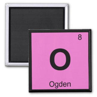 O - Ogden Utah Chemistry Periodic Table Symbol Fridge Magnet