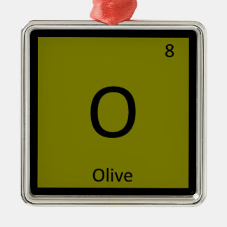 O - Olive Chemistry Periodic Table Element Symbol Ornament