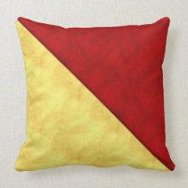 O Oscar Watercolor Nautical Signal Maritime Flag Throw Pillow