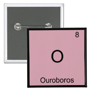 O - Ouroboros Funny Chemistry Element Symbol Tee Pinback Buttons