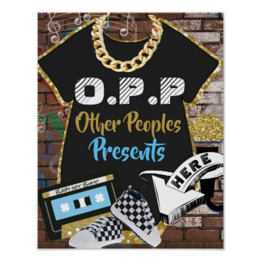 Art Themed O.P.P Hip Hop Baby Shower Gifts Table Sign