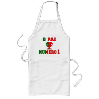 O Pai Número 1 - Number 1 Dad in Portuguese Long Apron