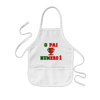 O Pai Número 1 - Number 1 Dad in Portuguese Kids' Apron