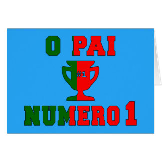 O Pai Número 1 - Number 1 Dad in Portuguese Card