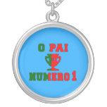 O Pai Número 1 - papá del número 1 en portugués Colgantes