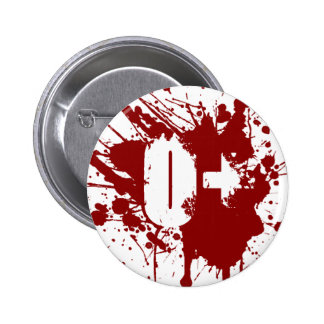 O Positive Blood Type Donation Vampire Zombie 2 Inch Round Button