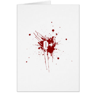 O Positive Blood Type Donation Vampire Zombie Greeting Card