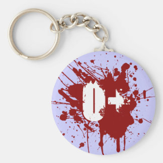 O Positive Blood Type Donation Vampire Zombie Keychain