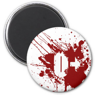 O Positive Blood Type Donation Vampire Zombie Magnet