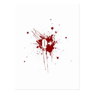 O Positive Blood Type Donation Vampire Zombie Postcard