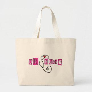 O regalos de la enfermera bolsa tela grande