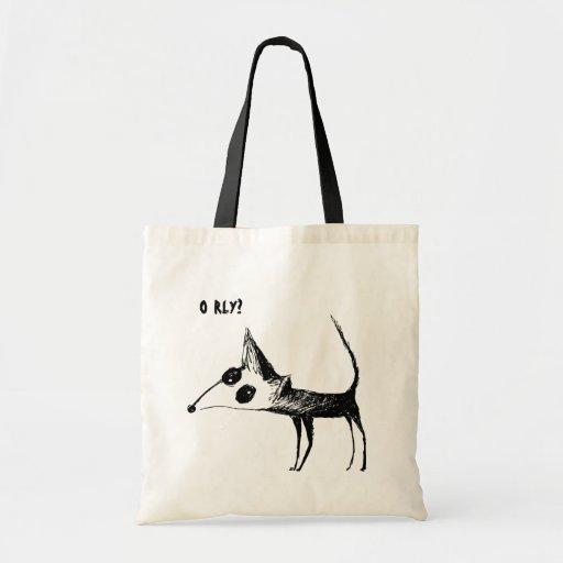 ¿O RLY? Bolso lindo del Fox Bolsa Tela Barata