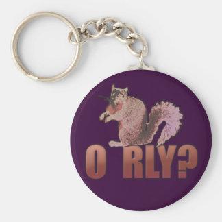 O RLY Squirrel Keychain