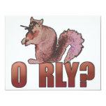 O RLY Squirrel Personalized Invitation