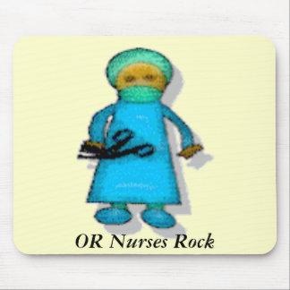O roca de las enfermeras alfombrilla de ratones