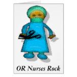 O roca de las enfermeras tarjeta