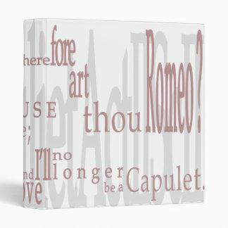 O Romeo Romeo Carpeta de la cita de Shakespear