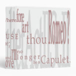 "¡""O Romeo, Romeo! ""Cita 1,5"" de Shakespeare carpet"