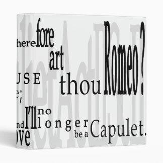 ¡ O Romeo Romeo Cita 1 de Shakespeare carpeta