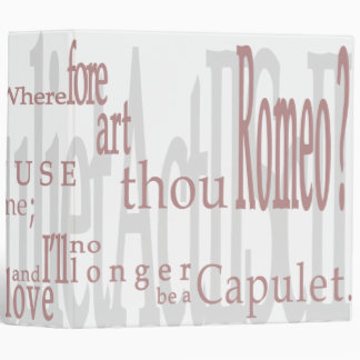 ¡ O Romeo Romeo Cita 2 de Shakespeare carpeta