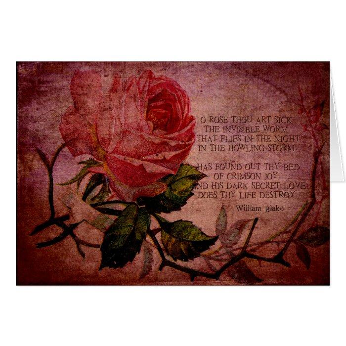 O Rose Thou Art Sick Card