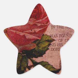O Rose Thou Art Sick Star Sticker