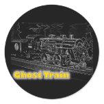O Scale Model Train - Ghost Train Classic Round Sticker