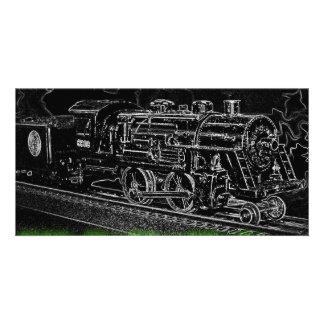 O Scale Model Train - Ride the Ghost Train Photo Card
