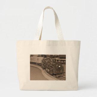 O Scale Model Train - Sepia Tone Tote Bags