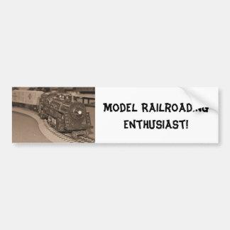 O Scale Model Train - Sepia Tone Bumper Sticker