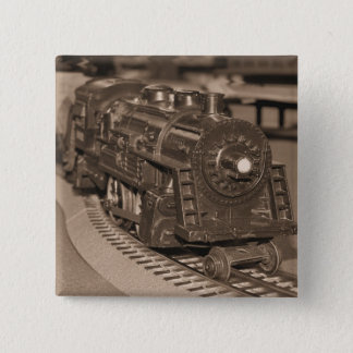 O Scale Model Train - Sepia Tone Pinback Button
