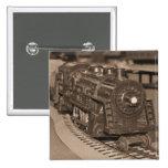 O Scale Model Train - Sepia Tone Pinback Button