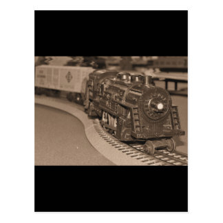 O Scale Model Train - Sepia Tone Postcard