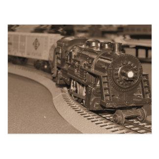 O Scale Model Train - Sepia Tone Postcard