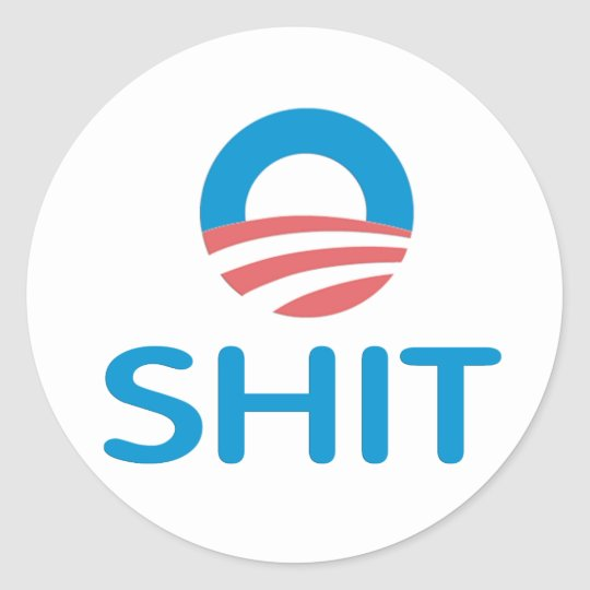 O Shit Anti Obama Sticker