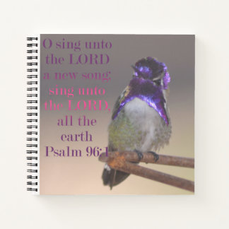 O Sing Unto The Lord A New Song Notebook