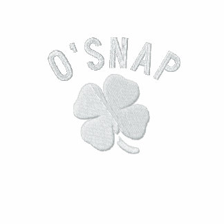 O SNAP EMBROIDERED HOODIE