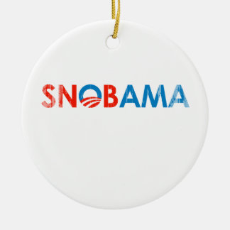 O Snobama Faded.png Double-Sided Ceramic Round Christmas Ornament